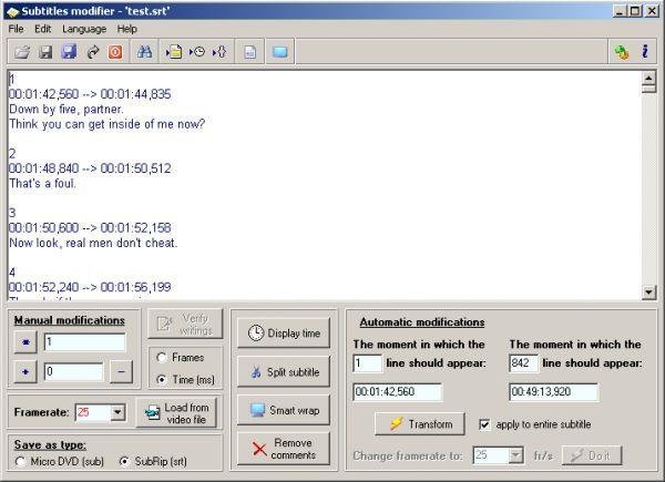 Vorschau Subtitles Modifier - Bild 1