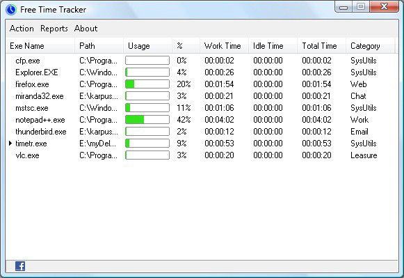 Vorschau Free Time Tracker - Bild 1