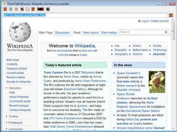 Vorschau ThreeTeeth Browser - Bild 1