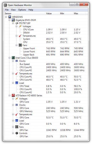 Vorschau Open Hardware Monitor - Bild 1
