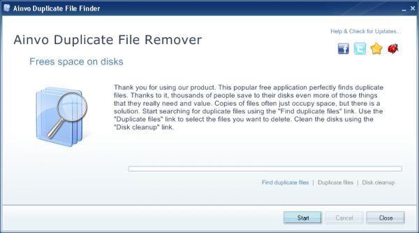 Vorschau Ainvo Duplicate File Finder - Bild 1