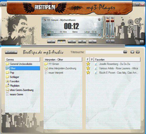 Vorschau Mp3 Player mit Musik Archivierung  - Bild 1