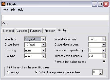 Vorschau TTCalc - Bild 1