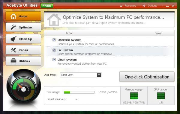 Vorschau Acebyte Utilities Free - Bild 1