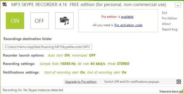 Vorschau MP3 Skype Recorder - Bild 1