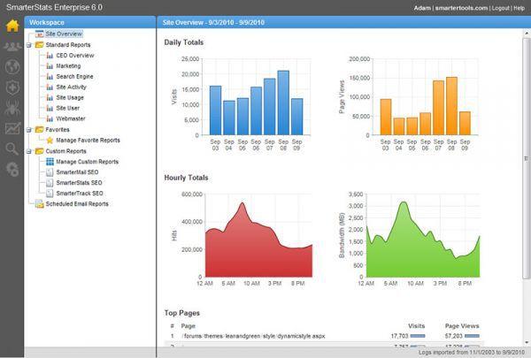 Vorschau SmarterStats Web Log Analytics - Bild 1