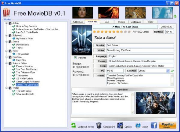 Vorschau Free MovieDB - Bild 1