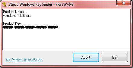 Vorschau SterJo Windows Key Finder - Bild 1