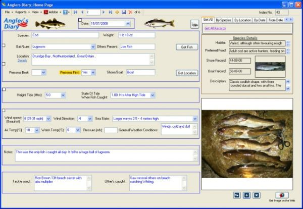 Vorschau Sea Anglers Diary - Bild 1