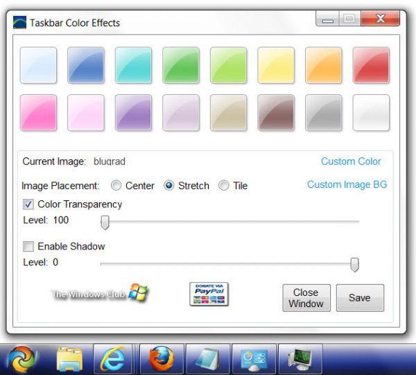 Vorschau Taskbar Color Effects - Bild 1