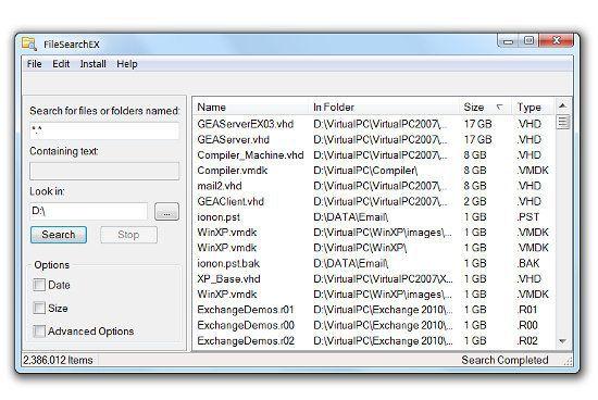Vorschau FileSearchEX - Bild 1