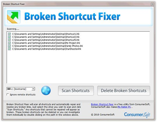 Vorschau Broken Shortcut Fixer - Bild 1