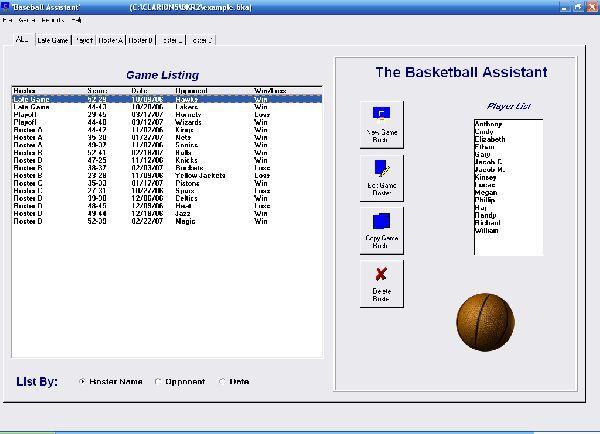 Vorschau Basketball Roster Organizer - Bild 1