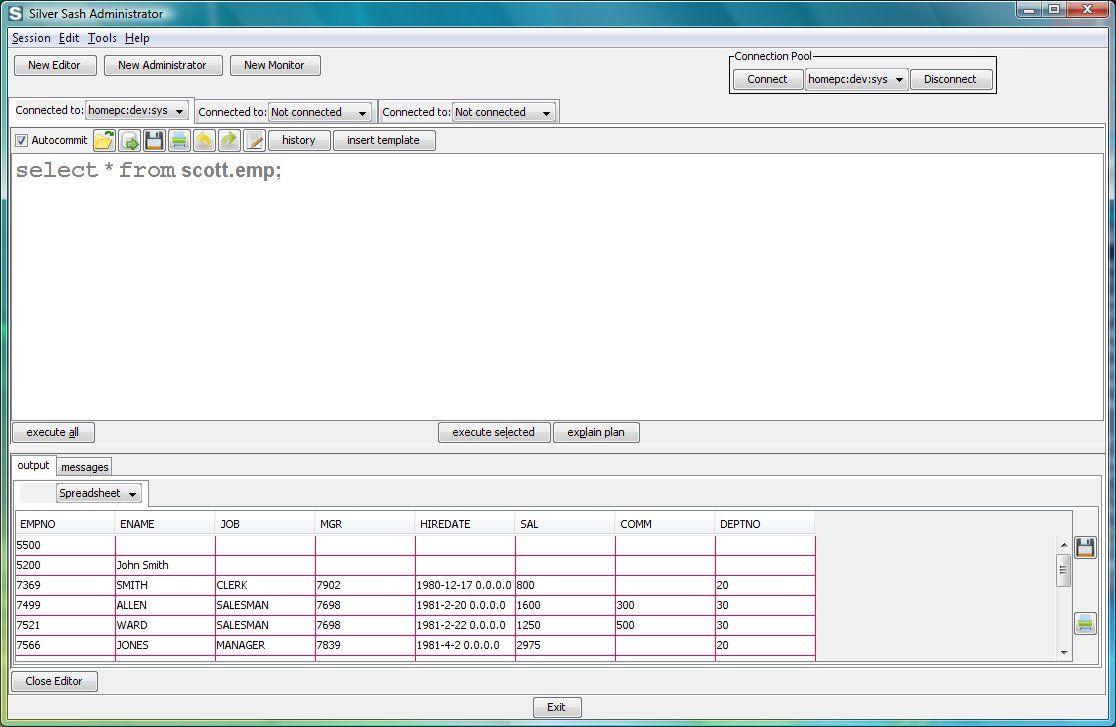 Vorschau Silver Sash Administrator Free for Oracle Database - Bild 1