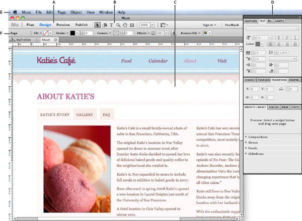 Vorschau Adobe Muse - Bild 1