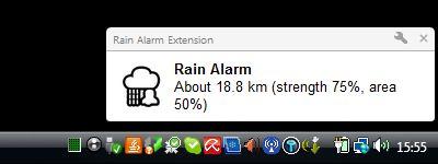 Vorschau Regen Alarm for Firefox - Bild 1