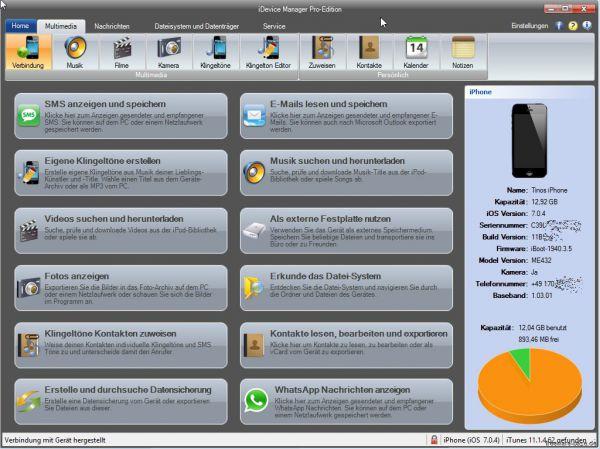 Vorschau iDevice Manager - Bild 1