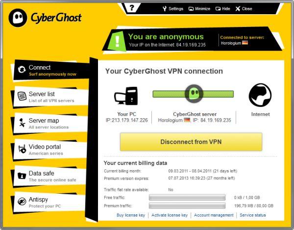 Vorschau CyberGhost VPN - Bild 1