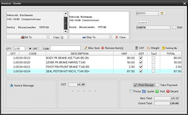 Vorschau Nevitium Free Invoice Software - Bild 1