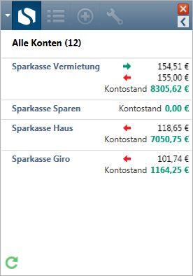 Vorschau Steganos Konto-Ticker - Bild 1