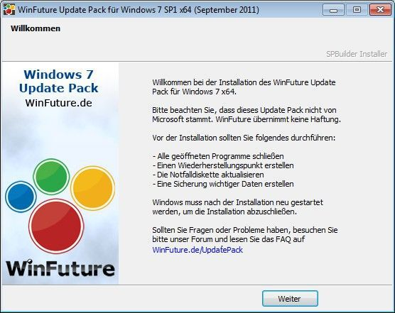 Vorschau WinFuture Windows 7 SP1 Update Pack - 32 & 64 Bit Vollversio - Bild 1