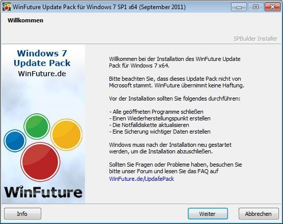 Vorschau WinFuture Windows 7 Update Pack - 32 Bit Vollversion und das - Bild 1