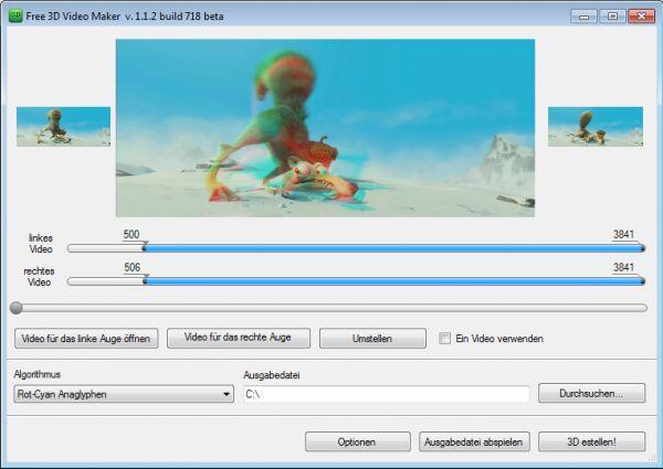 Vorschau Free 3D Video Maker - Bild 1