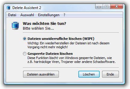 Vorschau Delete Assistent - Bild 1