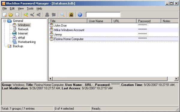 Vorschau BlackBox Password Manager - Bild 1