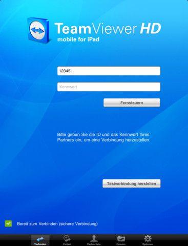 Vorschau TeamViewer HD iPad-App - Bild 1