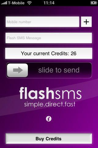 Vorschau Flash SMS iPhone-App - Bild 1