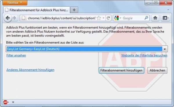 Vorschau Adblock Plus for Firefox - Bild 1