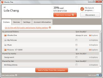 Vorschau Ubuntu One for Windows - Bild 1