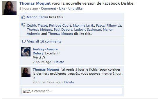Vorschau Facebook Dislike for Firefox - Bild 1