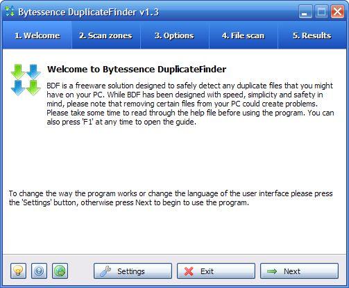 Vorschau Bytessence DuplicateFinder and Portable - Bild 1