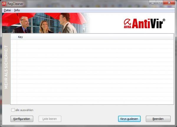 Vorschau Avira RegistryCleaner - Bild 1