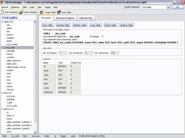 Vorschau SQLite Manager for Firefox - Bild 1