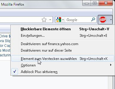 Vorschau Element Hiding Helper for Adblock Plus - Bild 1