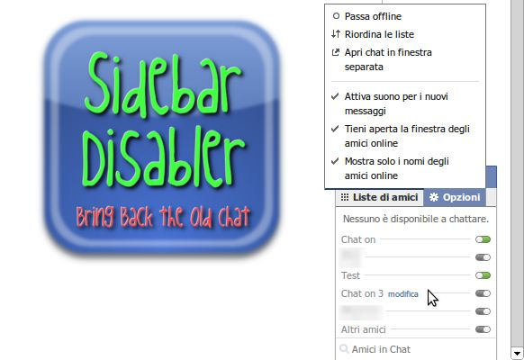 Vorschau Facebook Chat Sidebar Disabler for Firefox - now SocialReviv - Bild 1