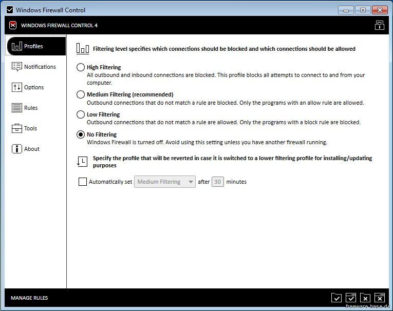 Vorschau Windows Firewall Control - Bild 1