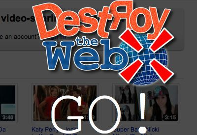 Vorschau Destroy the Web for Chrome - Bild 1