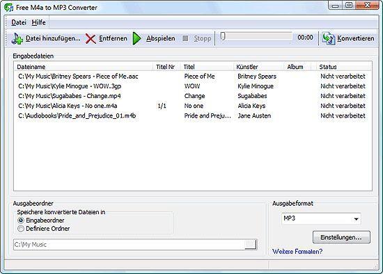Vorschau Free M4a to MP3 Converter - Bild 1