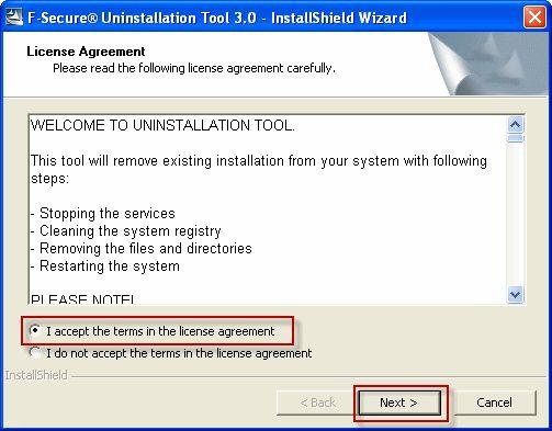 Vorschau F-Secure Uninstallation Tool - Bild 1