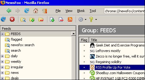 Vorschau NewsFox for Firefox - Bild 1