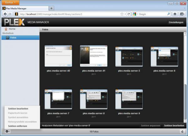 Vorschau Plex Media Server for Mac - Bild 1