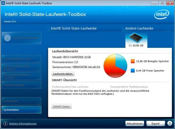 Vorschau Intel SSD Toolbox - Bild 1