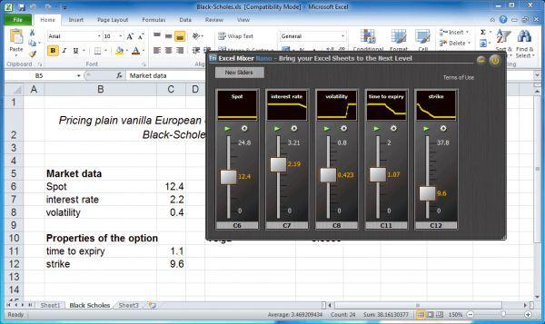 Vorschau Excel Mixer Nano - Bild 1