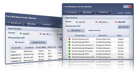 Vorschau Free Windows Service Monitor - Bild 1