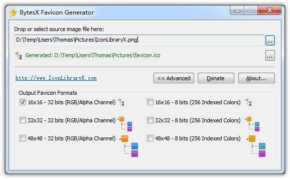 Vorschau BytesX Favicon Generator - Bild 1