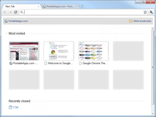 Vorschau Google Chrome Portable - Bild 1